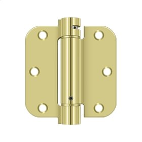 "3 1/2""x 3 1/2""x 5/8"" Spring Hinge - Polished Brass"