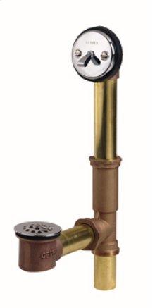 Chrome Gerber® Classics Brass Trip Lever Drain With Pre-set Adjustable Linkage