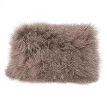 Lamb Fur Pillow Rect. Grey