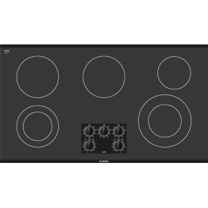 "BOSCH36"" Black Electric Cooktop 300 Series - Black NEM3664UC"