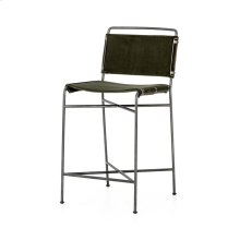 Counter Stool Size Modern Velvet Loden Cover Wharton Bar + Counter Stool