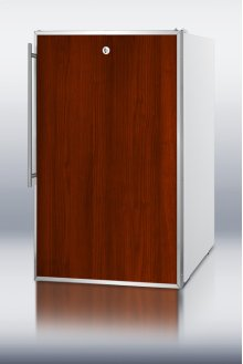 """Commercially Listed 20"""" Wide Counter Height All-freezer, -20 C Capable With A Lock and Stainless Steel Door Frame for Slide-in Custom Panels"""