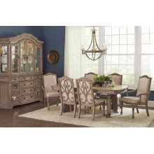Ilana Traditional Antique Java Dining Arm Chair
