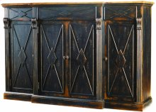 Sanctuary 4-Door 3-Drawer Credenza - Ebony & Drift