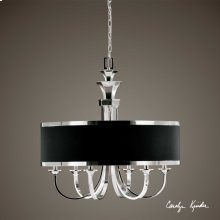 Tuxedo, 6-Lt Single Shade Chandelier