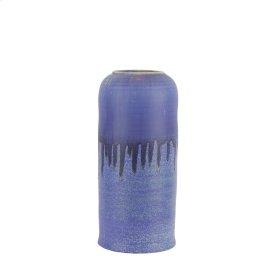 "Ceramic Drip Glaze Vase , 15"",blue"