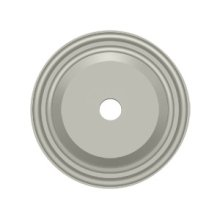 """Base Plate for Knobs, 1-1/2"""" Diam. - Brushed Nickel"""
