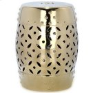Gold Lattice Coin Garden Stool - Gold Product Image