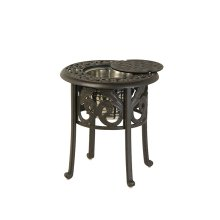 "20"" Round Ice Bucket Side Table"