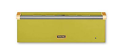 "36"" Custom Warming Drawer, Brass Accent"