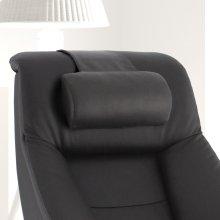 Espresso (Brown) Top Grain Leather -Neck Support -Adjustable -Top Grain Leather