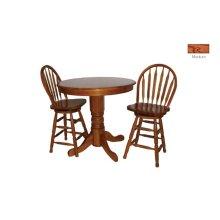 Round Oak Veneer Pub Table