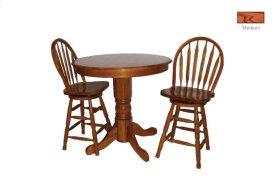 Round Oak Veneer Pub Dining