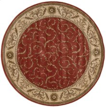 Somerset St02 Red Round Rug 5'6'' X 5'6''