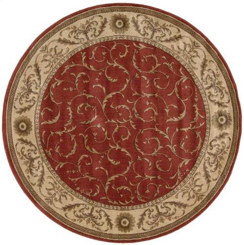 Somerset St02 Red Round Rug 5'6'' X 5'6''