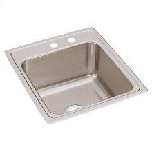 """Elkay Lustertone Classic Stainless Steel 19-1/2"""" x 22"""" x 10-1/8"""", Single Bowl Drop-in Sink"""