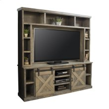"Farmhouse 85"" TV Console and Hutch"