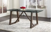 TRESTLE GLASS TABLE