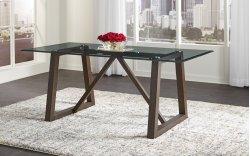 TRESTLE GLASS TABLE