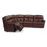 Triton Leather Power Reclining Sectional Product Image