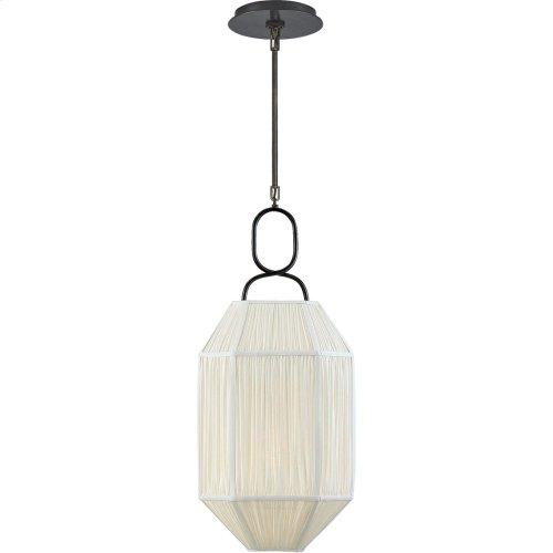 Visual Comfort KW5315BZ-L Kelly Wearstler Forza 1 Light 11 inch Bronze Lantern Pendant Ceiling Light, Small Gathered