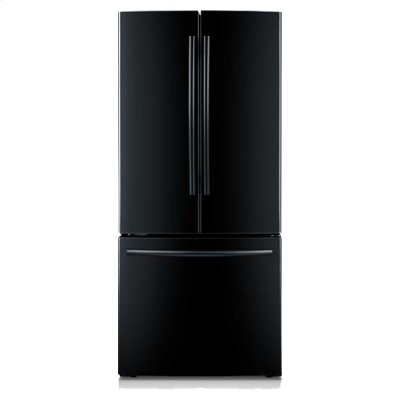 "30"" Wide, 22 cu. ft. French Door Refrigerator (Black) Product Image"