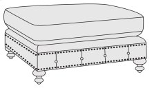 London Club Ottoman in Molasses (780)