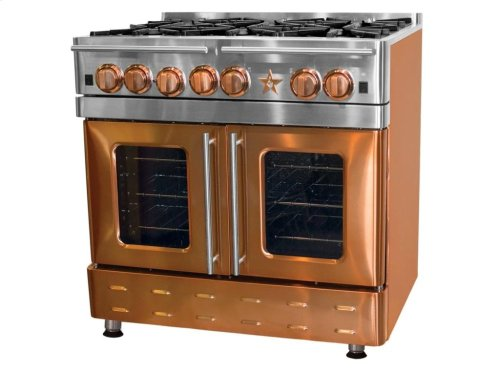 """36"""" Precious Metals Range with 12"""" Charbroiler"""