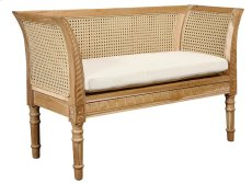 Outdoor Bayonne Caned Settee with Resin Wicker Product Image