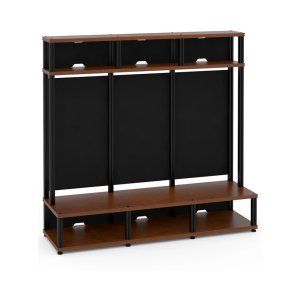 Salamander DesignsSynergy 10 Triple-Width Hutch Extension Module, Cherry with Black Posts