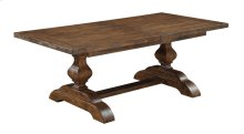 "Dining Table Top W/28"" Butterly Leaf & Base"