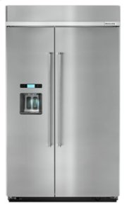 29.5 cu. ft 48-Inch Width Built-In Side by Side Refrigerator with PrintShield Finish - PrintShield Stainless Product Image