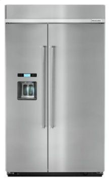 29.5 cu. ft 48-Inch Width Built-In Side by Side Refrigerator with PrintShield™ Finish - PrintShield Stainless