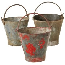 Repurposed Vintage Bucket (3 asstd) (Each One Will Vary)