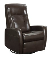 Emerald Home Conrad Swivel Glider Bonded Leather Chocolate U5073-04-25 Product Image