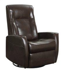 Emerald Home Conrad Swivel Glider Bonded Leather Chocolate U5073-04-25