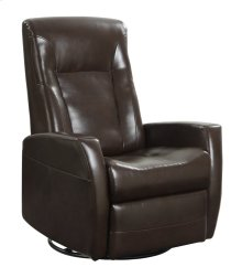 Emerald Home Conrad Swivel Glider Bonded Leather Chocolate U5073-04-25