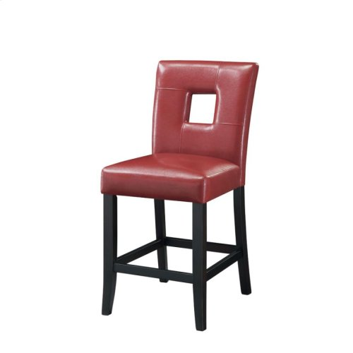 Newbridge Causal Red Counter-height Chair
