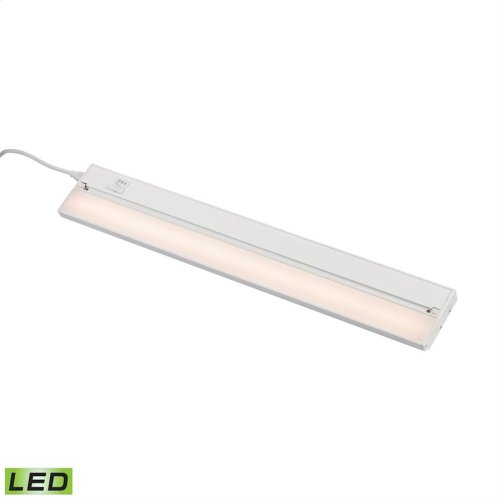 ZeeLED Pro 1-Light Utility Light in White with Diffused Glass - Integrated LED