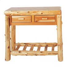 Two Drawer Sofa Table - Natural Cedar