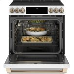 """GE 30"""" Smart Slide-In, Front-Control, Radiant And Convection Range"""