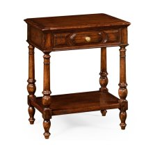 Country Style Walnut Side Table