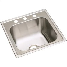 "Dayton Stainless Steel 20"" x 20"" x 10-1/8"", Single Bowl Drop-in Laundry Sink"