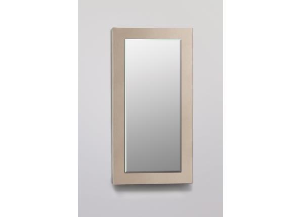 Decorative Framed Cabinet, Satin Bronze Glass