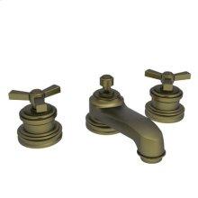 Antique Brass Widespread Lavatory Faucet