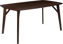 Holden 35.5'' x 59'' Rectangular Espresso Finish Wood Dining Table with Clean Lines and Braced Legs