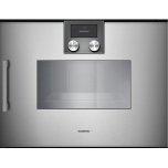 "200 series 200 series Combi-steam oven Full glass door in  Metallic Width 24"" (60 cm) Right-hinged Controls on top"