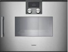 Combi-steam Oven 200 Series Full Glass Door In Gaggenau Metallic Width 60 Cm Right-hinged Controls On Top