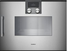"200 Series Combi-steam Oven Full Glass Door In Gaggenau Metallic Width 24"" (60 Cm) Right-hinged Controls On Top"