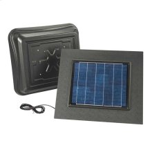 Remote Mount, Solar Powered Attic Ventilator in Weathered Wood
